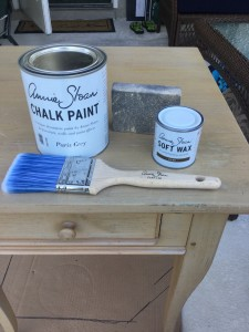 Chalk paint, wax, paint night table