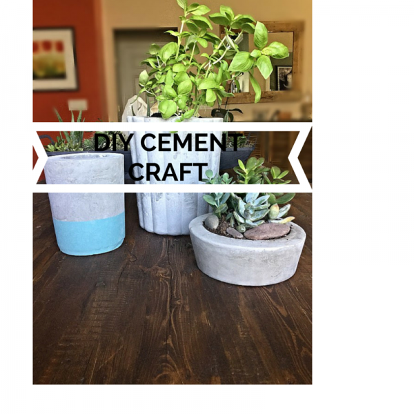 Diy cement craft diane and dean diy for Craft cement mix
