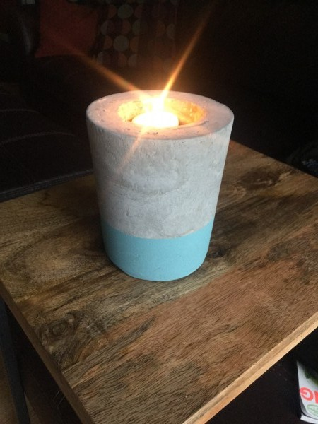 cement candle holder