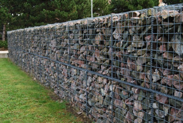 Backyard ideas for gabion walls diane and dean diy Gabion wall design