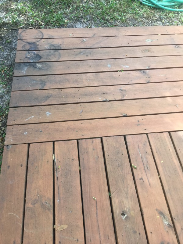 how to restain your deck