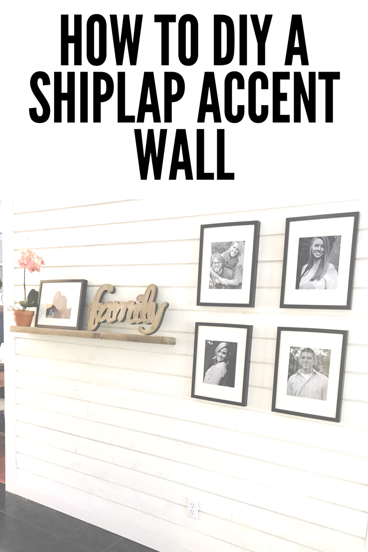 How to diy a shiplap wall