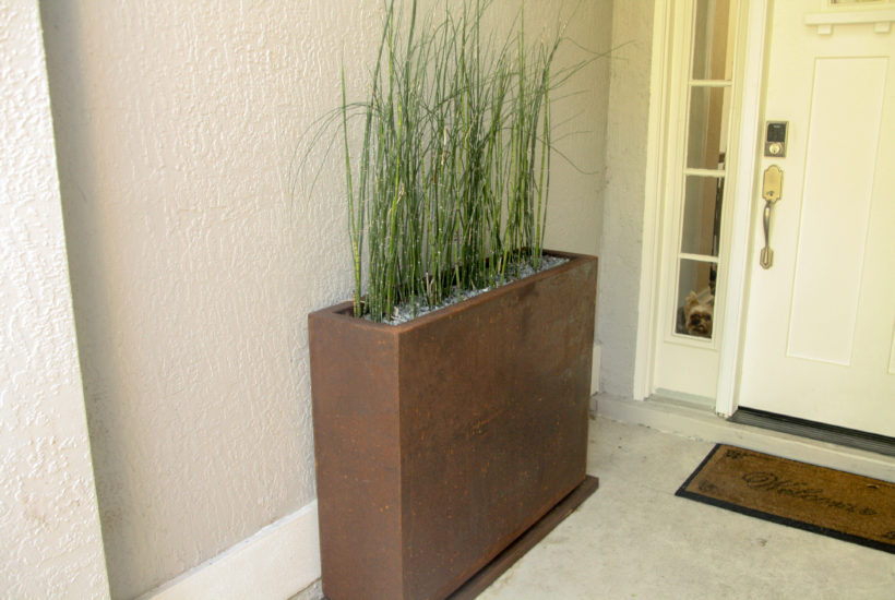 Corten Steel Planters For Modern Outdoor Landscaping Diane And Dean